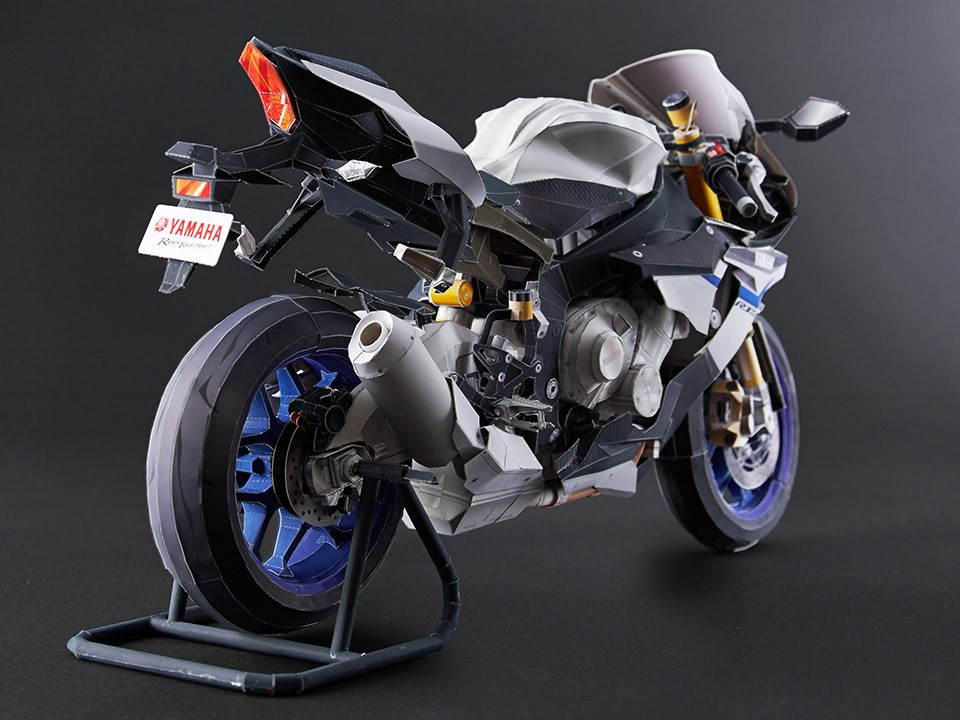 3d Yamaha Motorcycle Wallpaper Yamaha Yzf R1m Papercraft Ultra Realistic Model Available