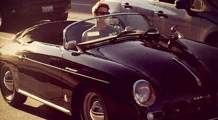 Old Time Car Wallpaper Quot Glee Quot Star Chord Overstreet Looks Cool In Porsche 356
