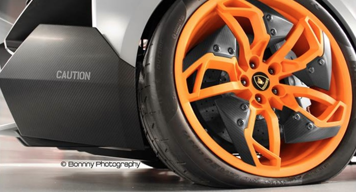 A Car Automotive Here's A Concept Car With A Flat Tire: Lamborghini Egoista