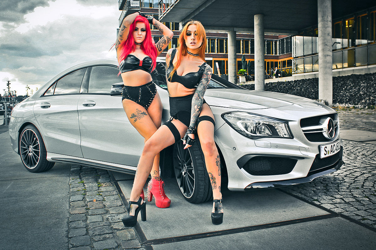 Desktop Machine Cars Lamborghini Wallpapers Hot German Girls Bring The Fire To Mercedes Cla 45 Amg
