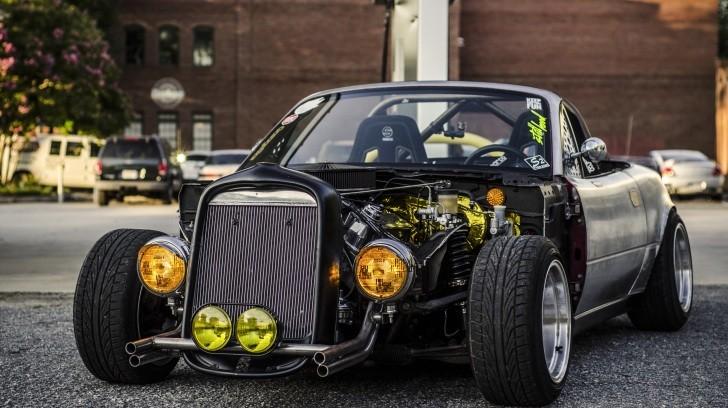 Mazda Race Car Wallpaper Mazda Miata Mx 5 Gets A Rat Rod Treatment Autoevolution