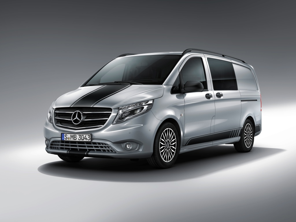 Mercedes Benz Vito Mercedes Benz Vito Sport Line Gets Racing Stripe And