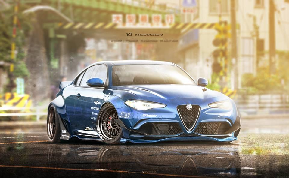 Hd Nfs Cars Wallpapers Rocket Bunny Alfa Romeo Giulia Rendered Might Just Happen