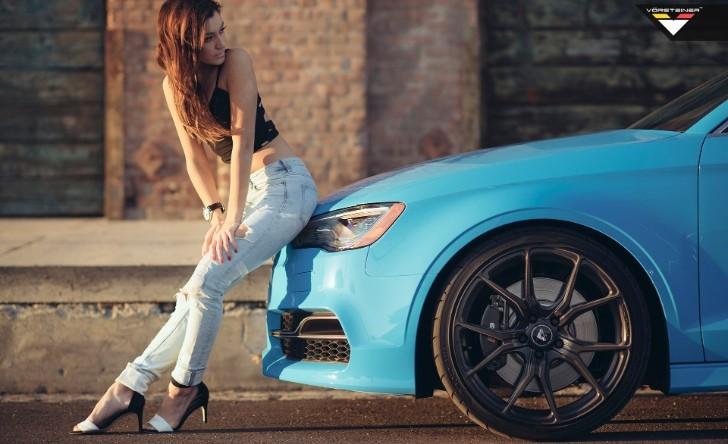 3d Golf Wallpaper For The Home Sky Blue Audi S3 Sedan On Vorsteiner V Ff 103 Wheels In