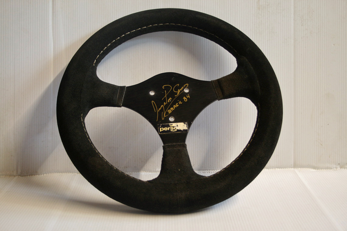 F1 Grand Prix Race Steering Wheel From Senna's First F1 Race For Sale