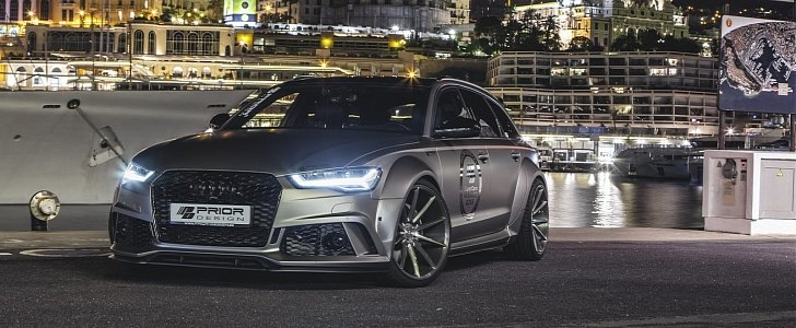 Retro Car Home Wallpaper Widebody Audi Rs6 By Prior Design Shows Muscles In Monte