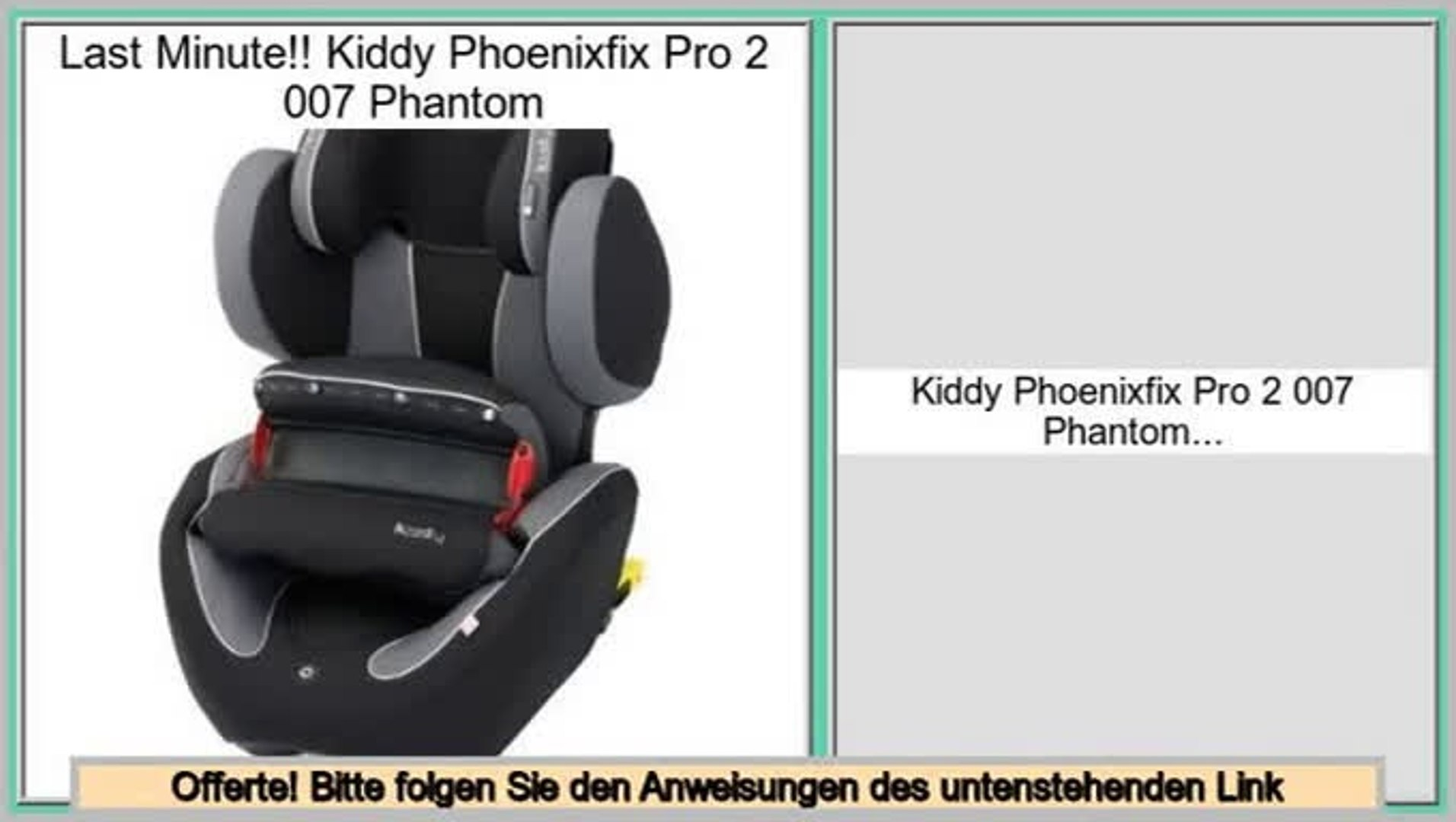 Kindersitz Kiddy Discovery Pro Pauschalangebote Kiddy Phoenixfix Pro 2 007 Phantom