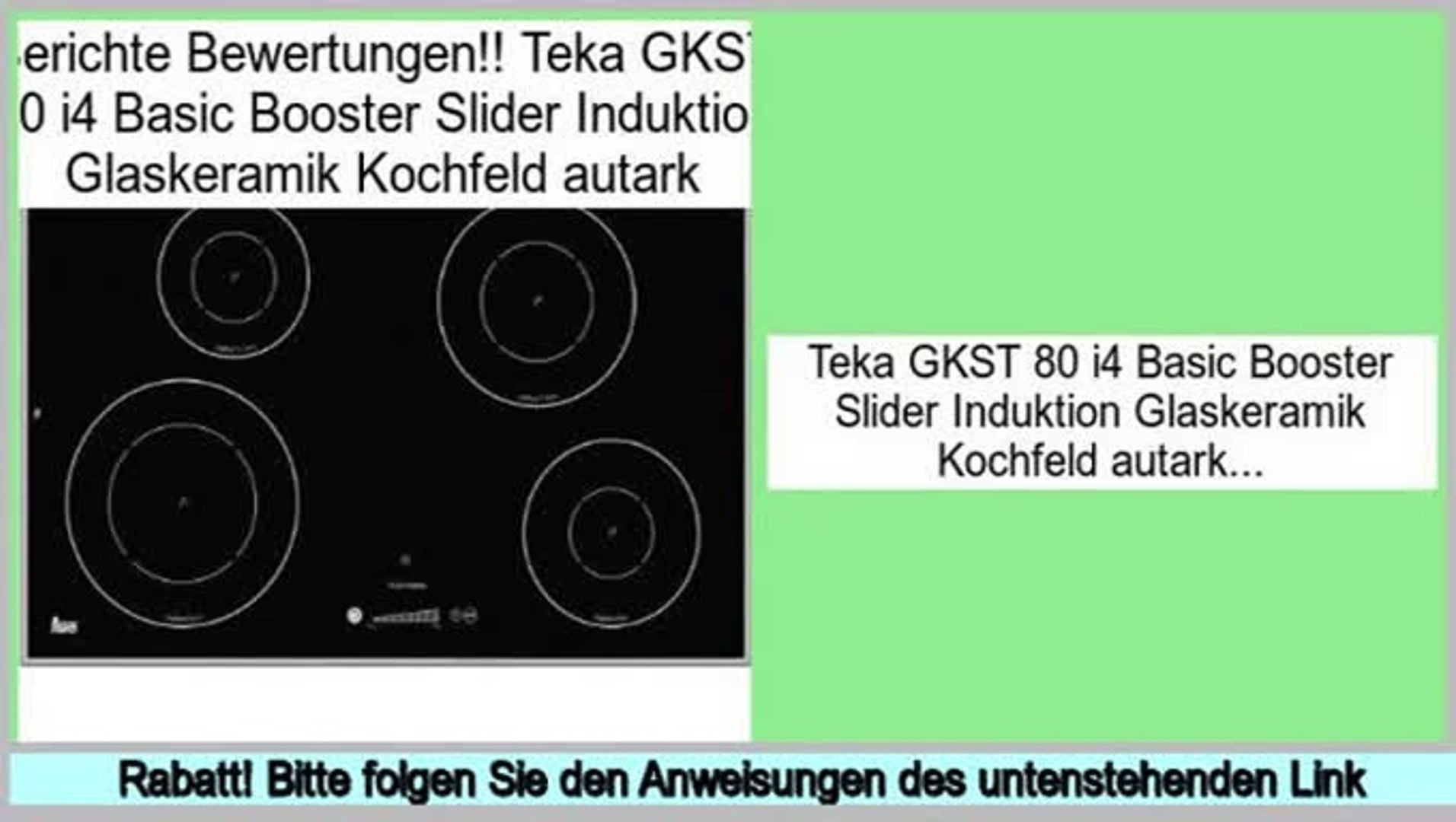 Kochfeld Induktion Autark Last Minute Teka Gkst 80 I4 Basic Booster Slider Induktion Glaskeramik Kochfeld Autark - Video Dailymotion
