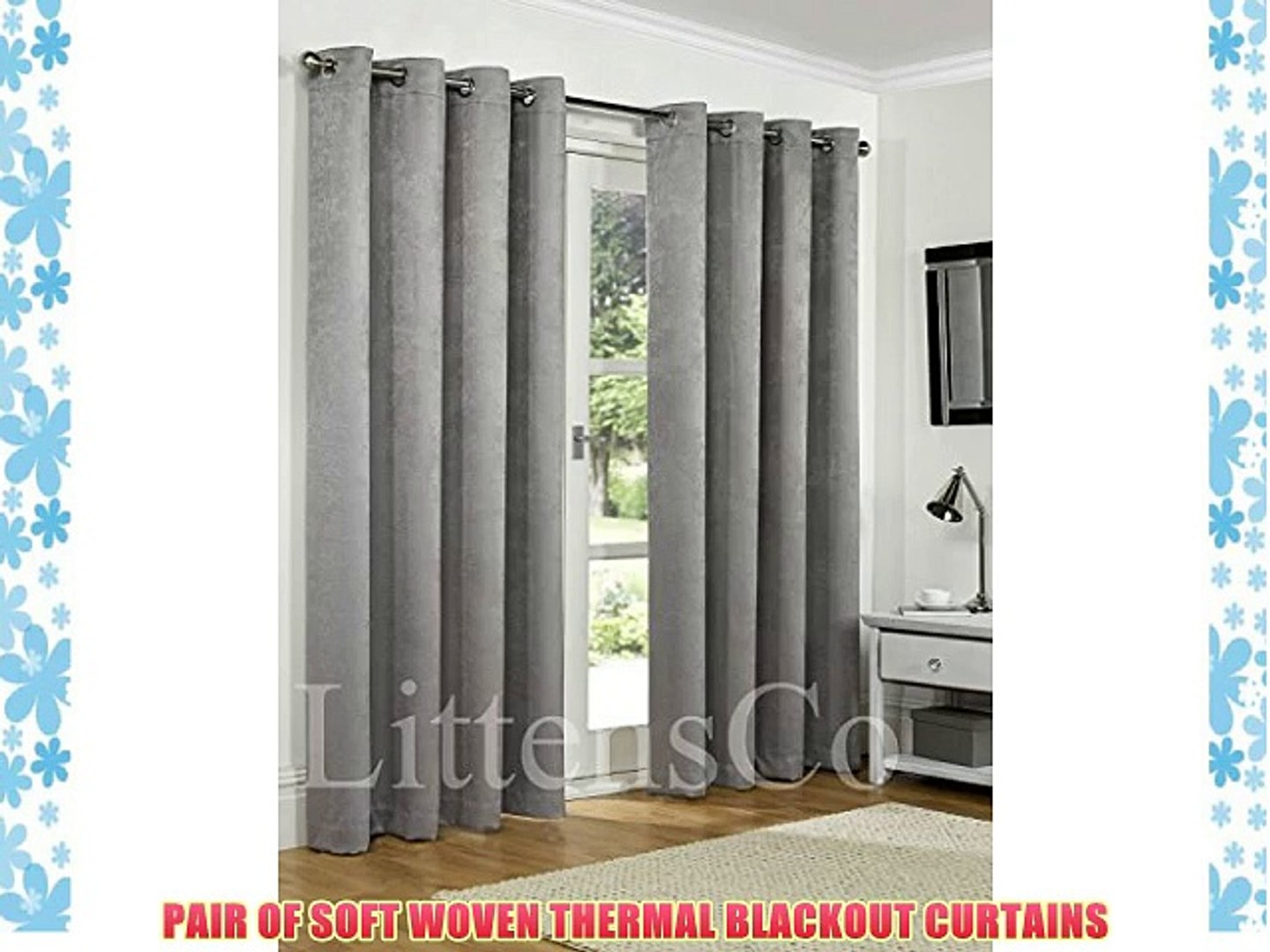 Rollos Gardinen Vorhänge New Ready Made Plain Thermal Blackout Curtains Eyelet Ring Top Fully Lined Möbel Wohnen Stars Group Com