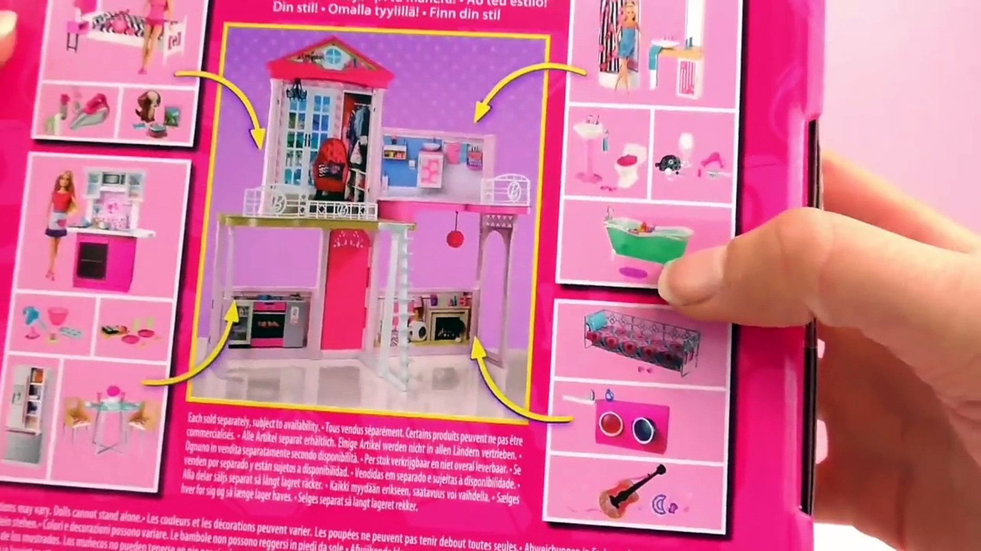 Barbie Badezimmer Set Ma Maison Barbie Français La Table Pour Manger Barbie Unboxing Construction Et Démo