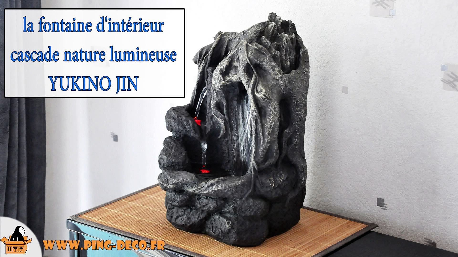Grande Fontaine D'interieur Bouddha Grande Fontaine Cascade Nature Yukino Jin Www Ping Deco Fr