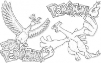 Free coloring pages of lugia and ho-oh