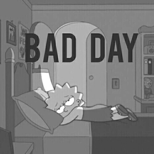 Fall Out Boy Wallpapers 2015 Bad Day Black And White Favorite Lisa Simpson Sad