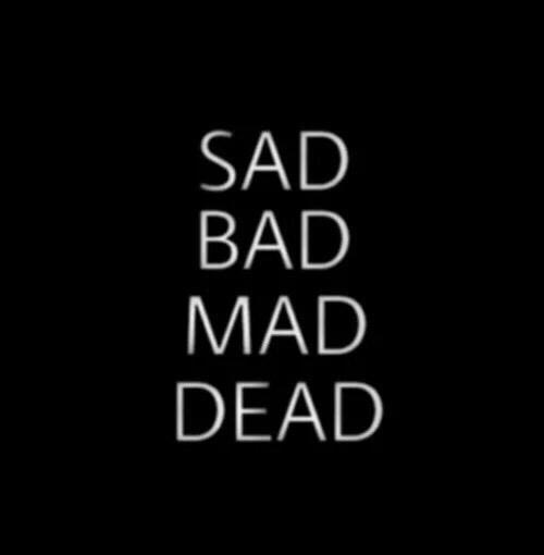 Girl And Boy Cartoon Wallpaper Bad Black Dead Frase Mad Sad White Image 2931841