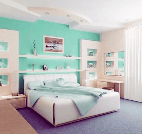 Mint Colored room