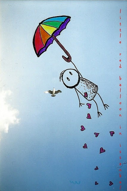 Cute Umbrella Wallpaper Bird Drawing Rainbow Sky Umbrella Image 221663 On