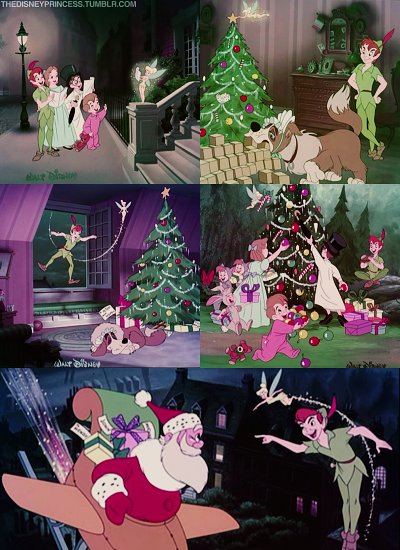 Girl Couple Wallpaper Christmas Disney Peter Pan Santa Claus Image 153530