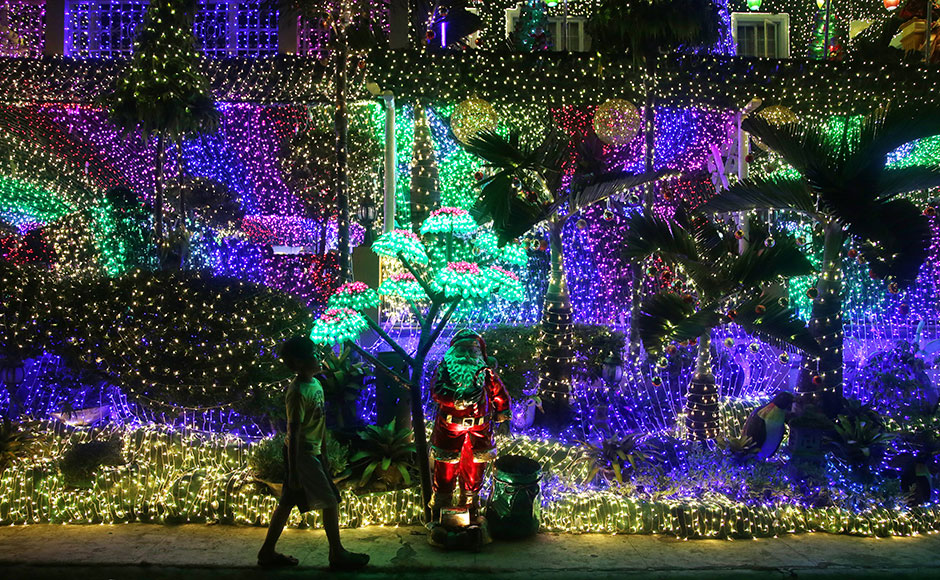 From lights to zombies Check out the Christmas decorations from - christmas decorations outside