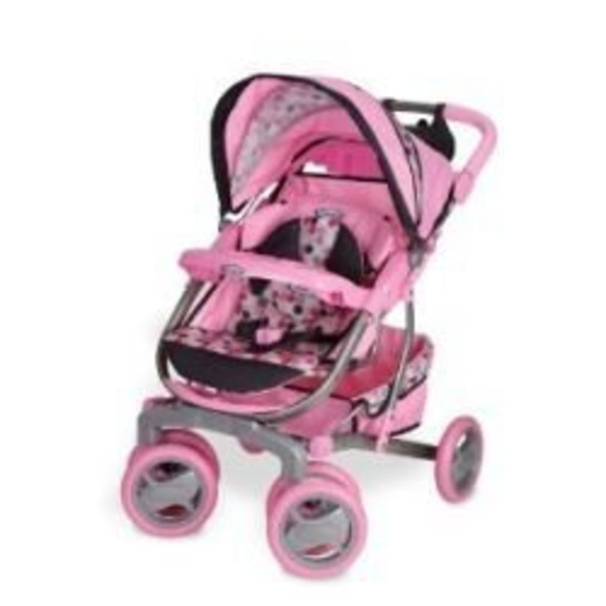 Double Buggy Pink Baby Doll Stroller Sets