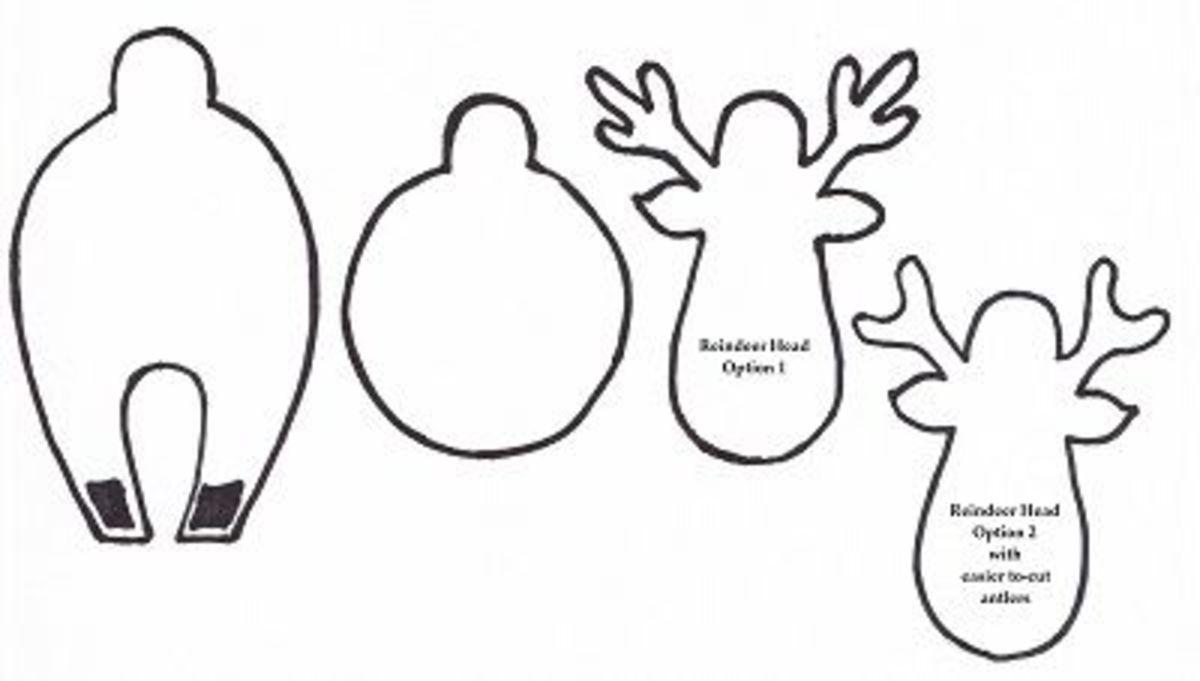 Reindeer Body Template Olivero