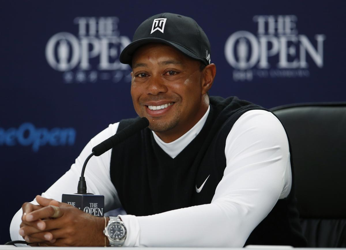 tiger woods british open news conference