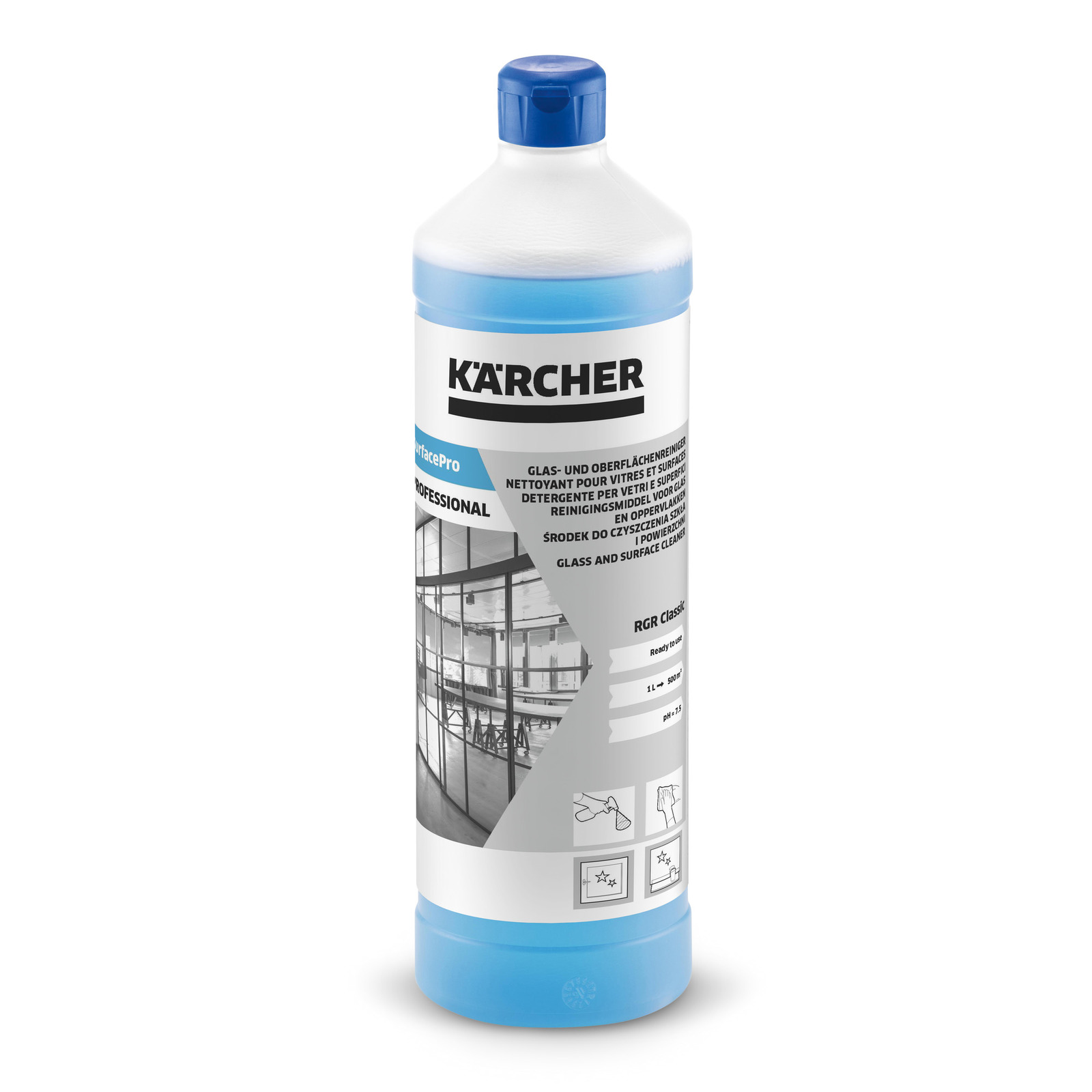 Tache De Suie Surfacepro Rgr Classic Glass And Surface Cleaner 1 L Kärcher