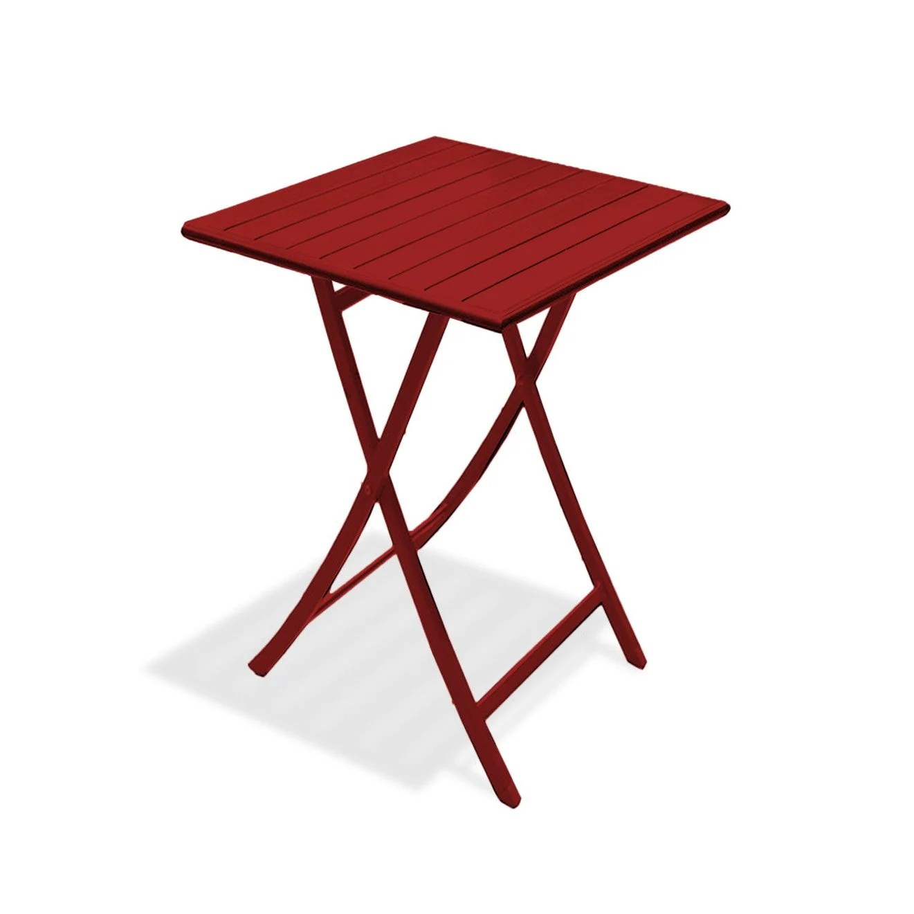 Table De Jardin Rouge Table De Jardin Marius Carrée Rouge 2 Personnes