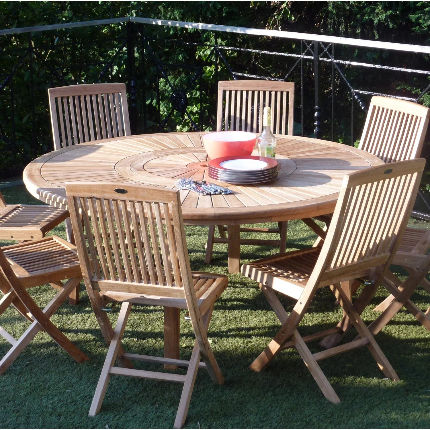 Table Jardin Salon De Jardin Orion Bois Naturel 8 Personnes Leroy Merlin