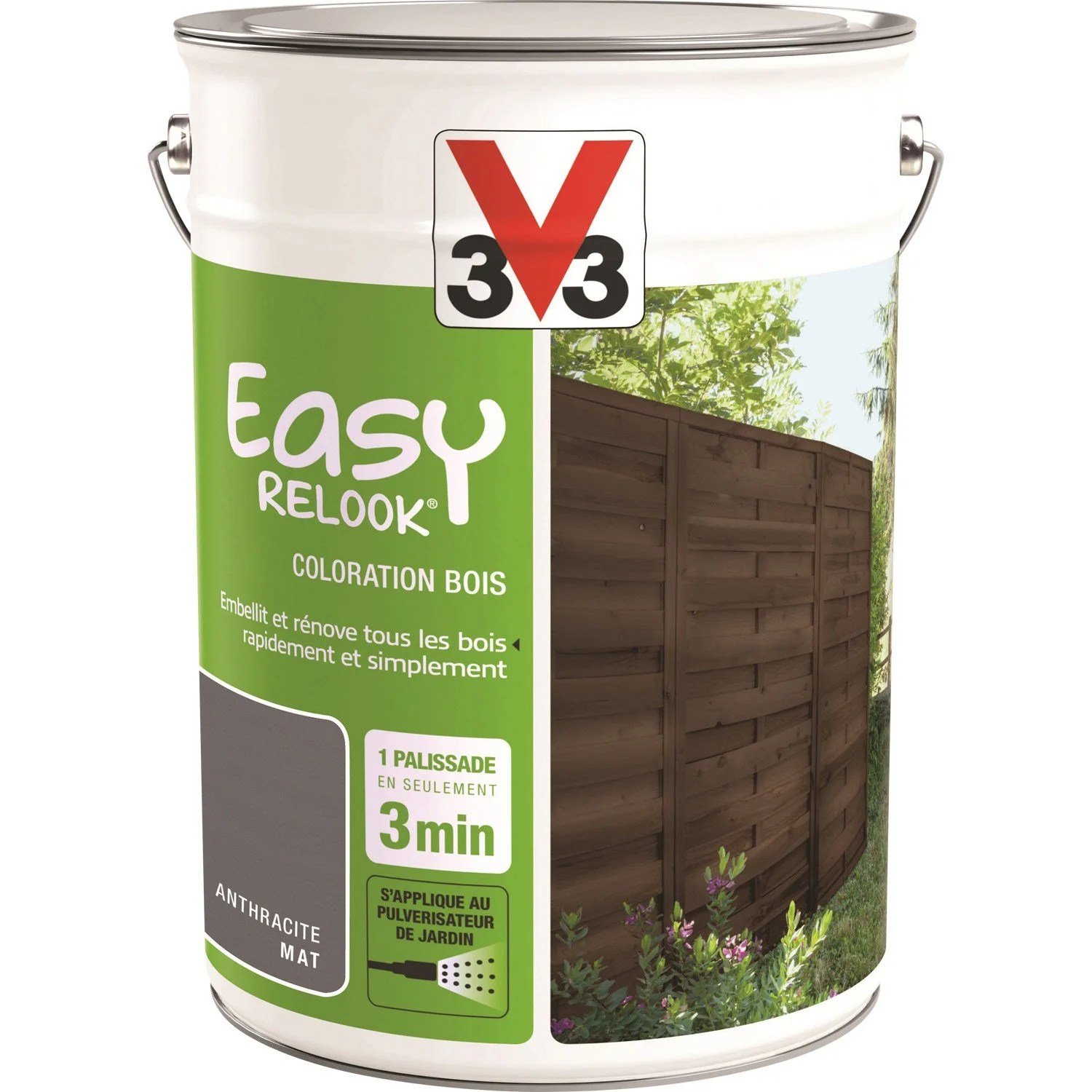 Leroy Merlin Relook Bois Protection V33 Easy Relook Bois 5 L Anthracite Leroy Merlin