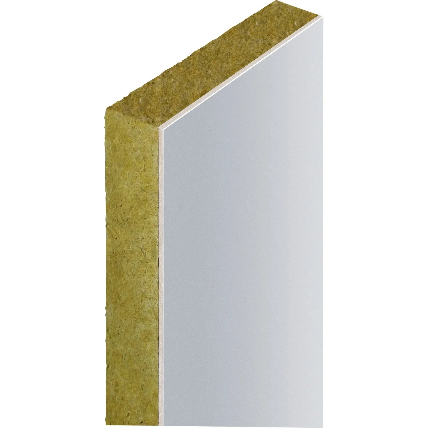 Placo Phonique Leroy Merlin Doublage En Laine De Roche Labelrock Rockwool 2 5x1 2m Ep 50mm R 1 2