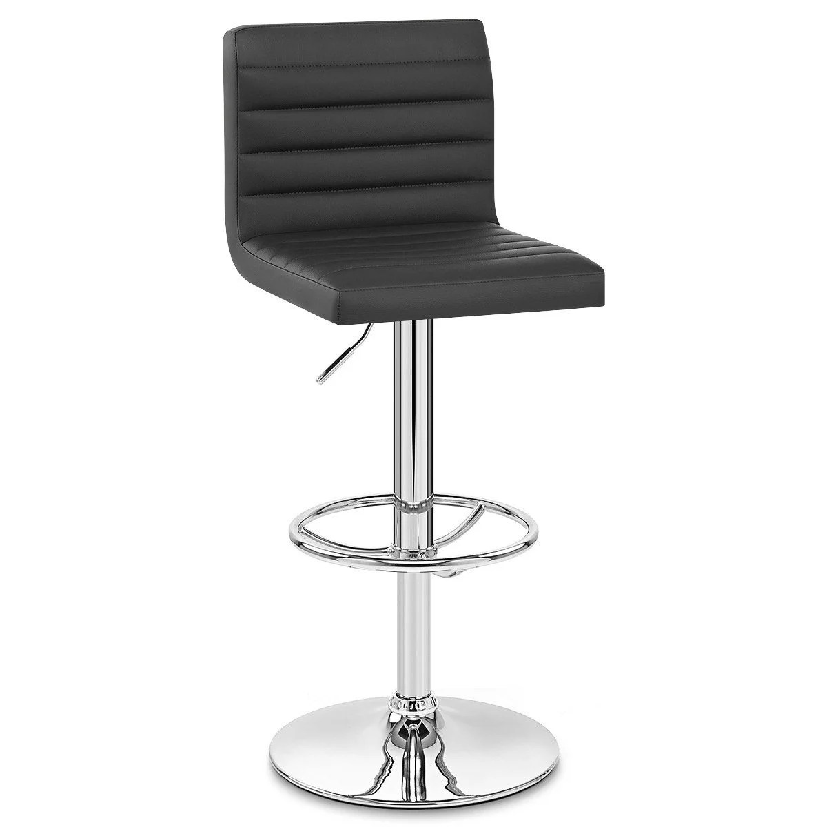 Tabourets De Bar Alu Tabouret De Bar Design Simili Cuir Noir Mint