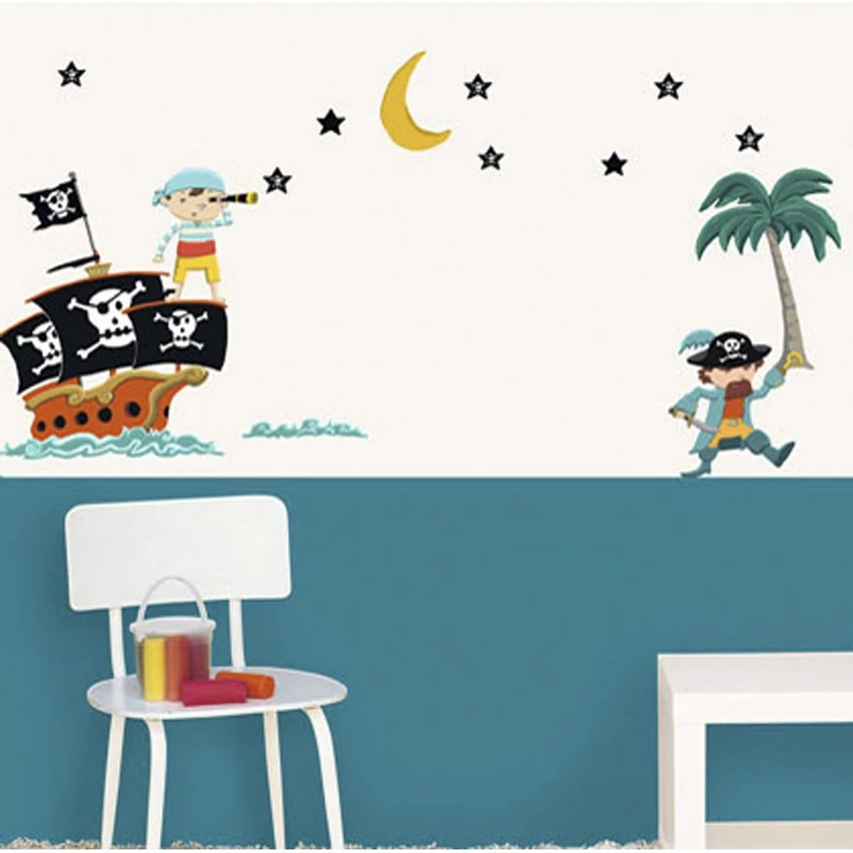 Stickers Exterieur Pour Caravane Sticker Pirates 49 Cm X 69 Cm Leroy Merlin
