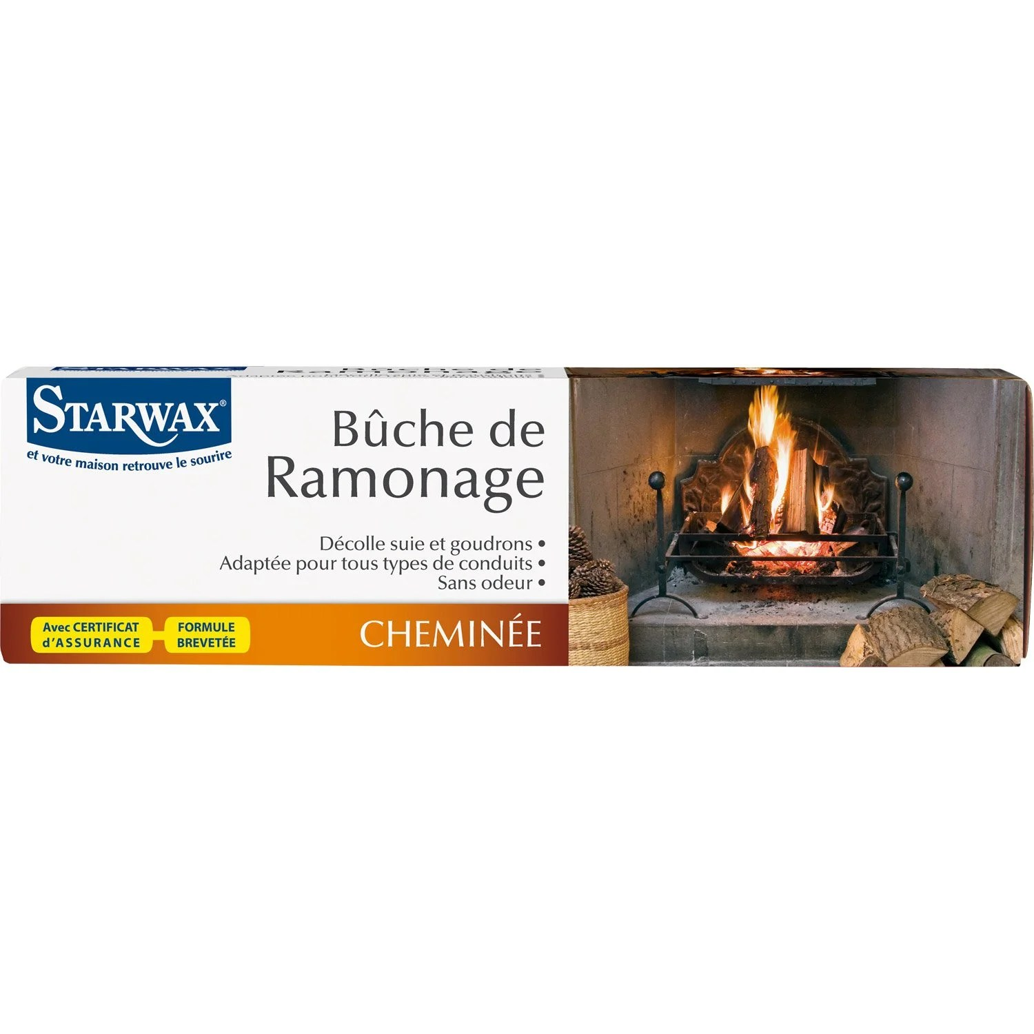 Ramonage Cheminee Vannes Bûche De Ramonage Starwax 1 3 Kg