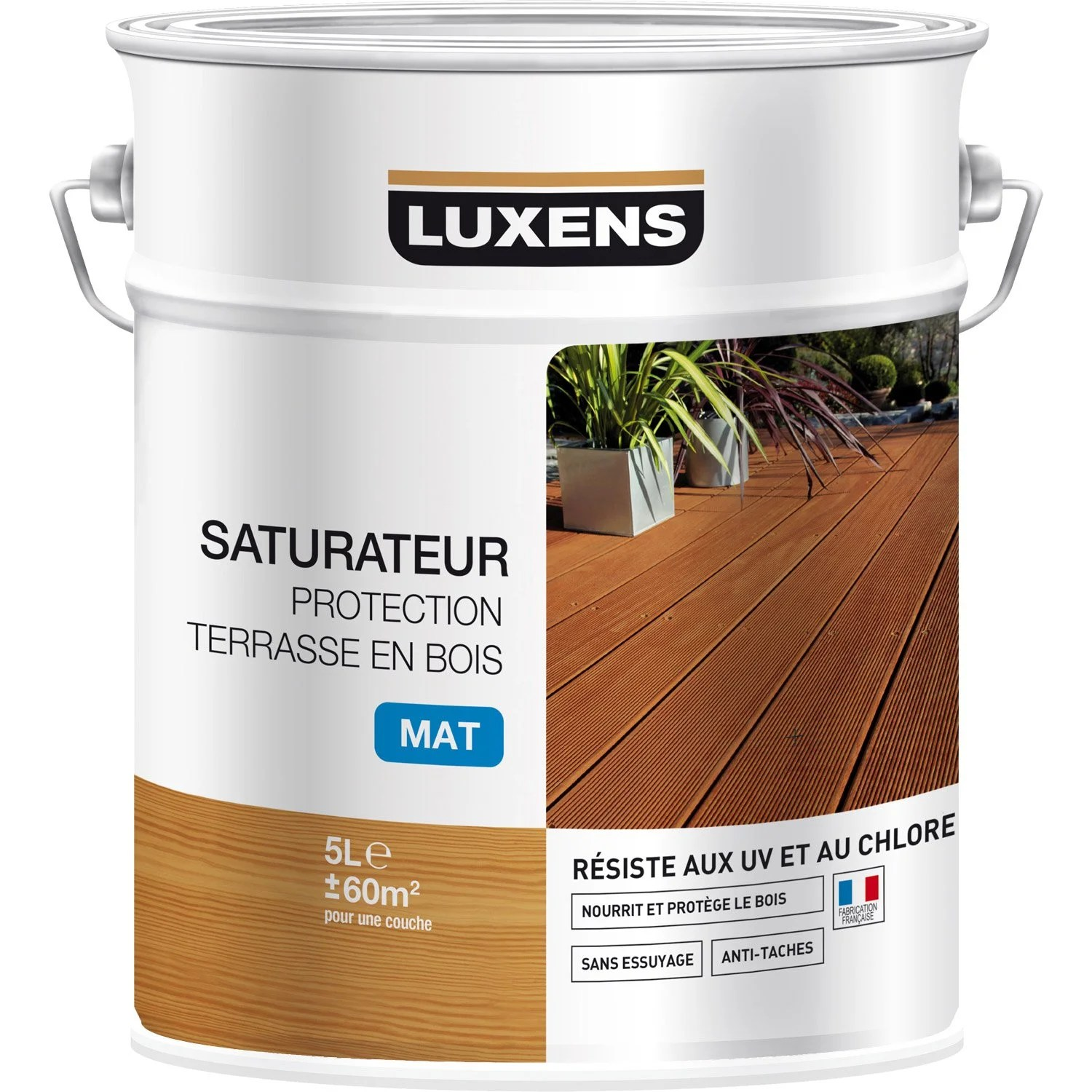 Dalle Terrasse Temps De Sechage Saturateur Luxens Protection Terrasse Bois 5 L Naturel
