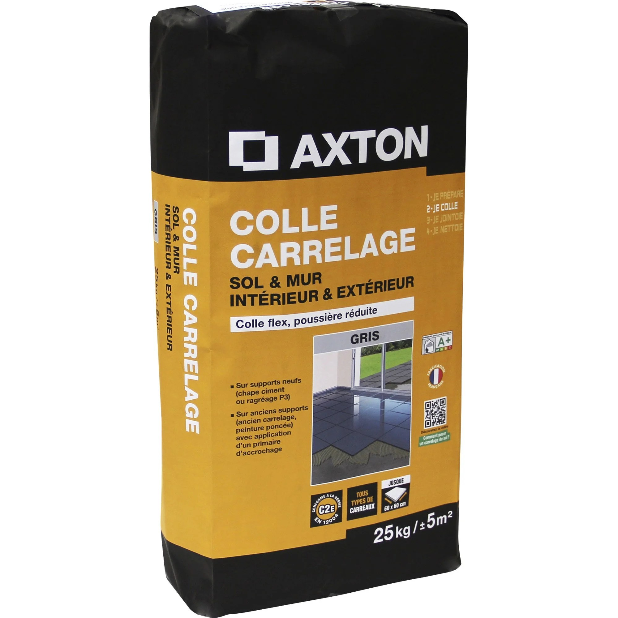 Mortier Colle Carrelage Exterieur Mortier Colle Flexible Carrelage Mur Et Sol Gris Axton 25 Kg