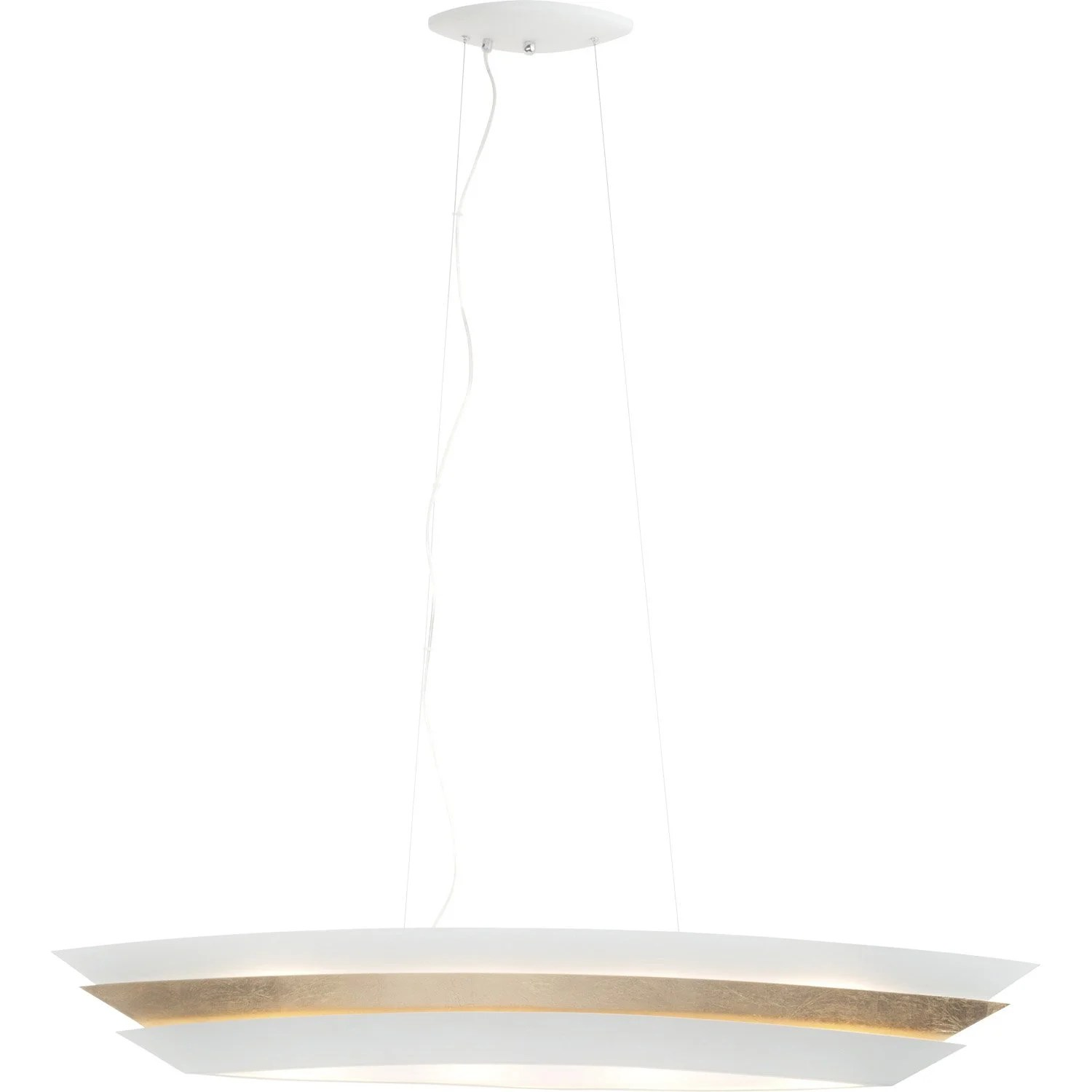 Suspension Contemporaine Suspension Contemporain Métal Blanc Brilliant Ship 4 Lumière S D 28 Cm