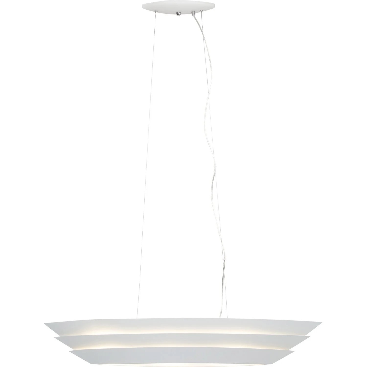 Suspension Contemporaine Suspension Contemporain Métal Blanc Brilliant Ship 3 Lumière S D 98 Cm