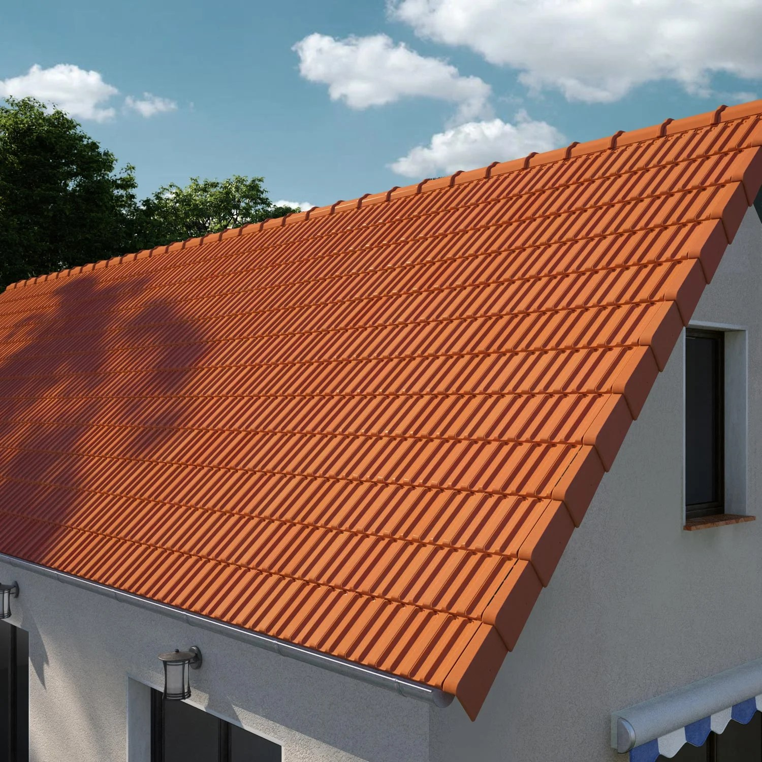 Remplacement Tuiles Prix M2 Tuile Imerys Toiture Rouge H14