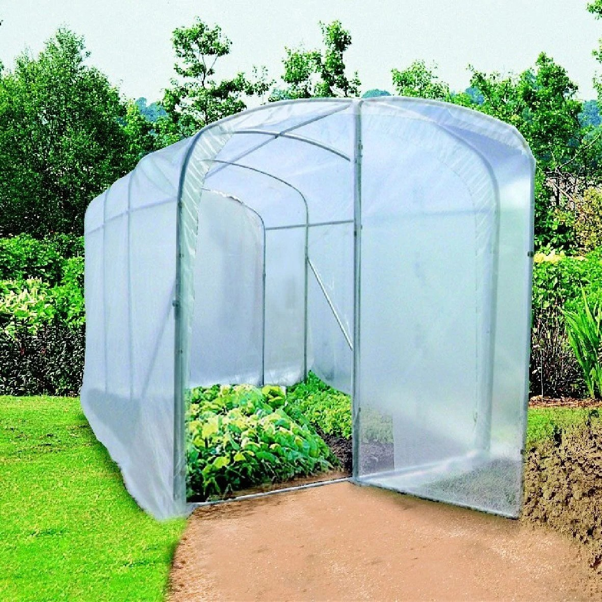 Serre Tunnel De Forcage Serre Tunnel Nortene Luna Xl L 200 X P 450 X H 195 Cm