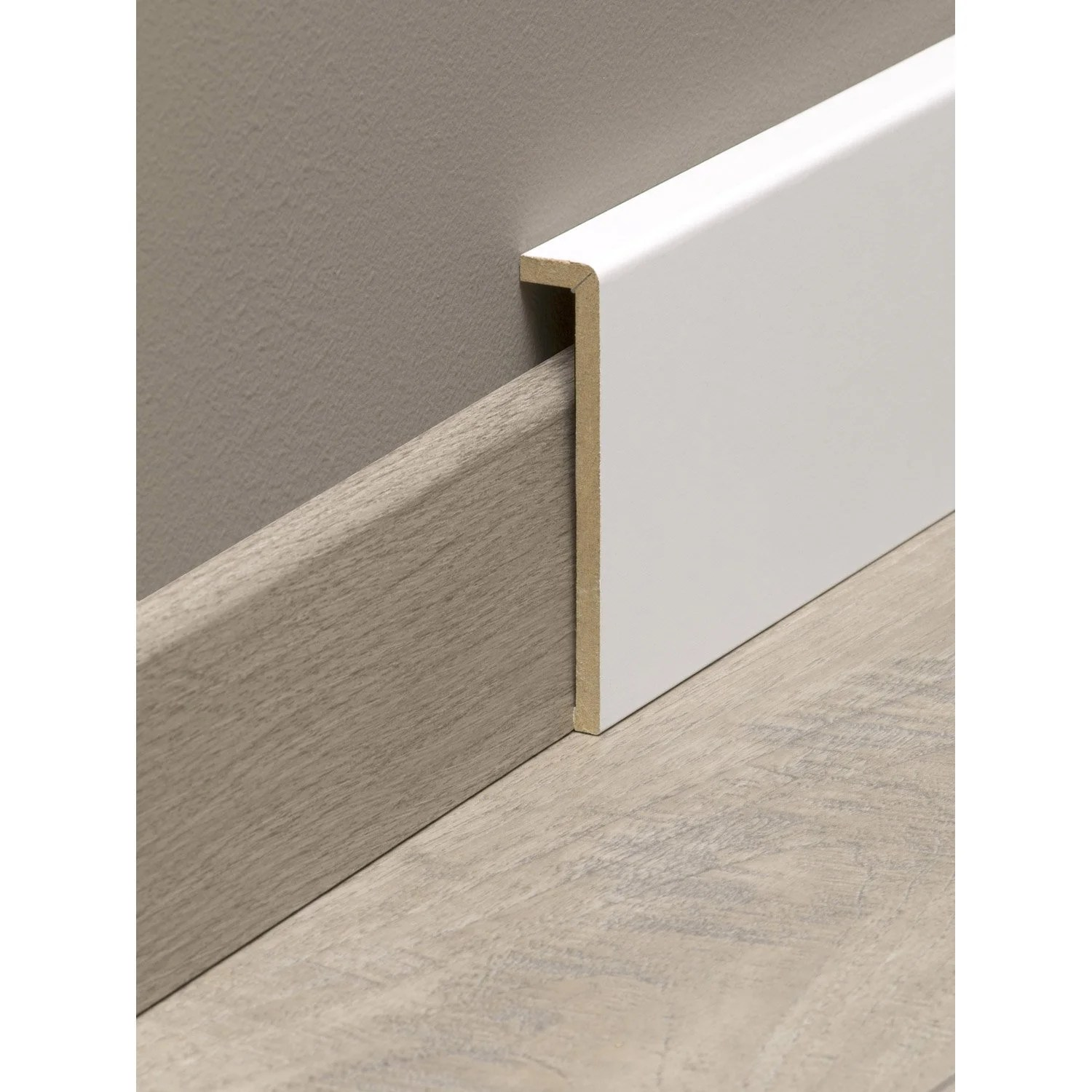 Carrelage à Clipser Leroy Merlin Surplinthe De Rénovation Médium Mdf Mélaminé Blanc 19 X 110 Mm L 2 2 M