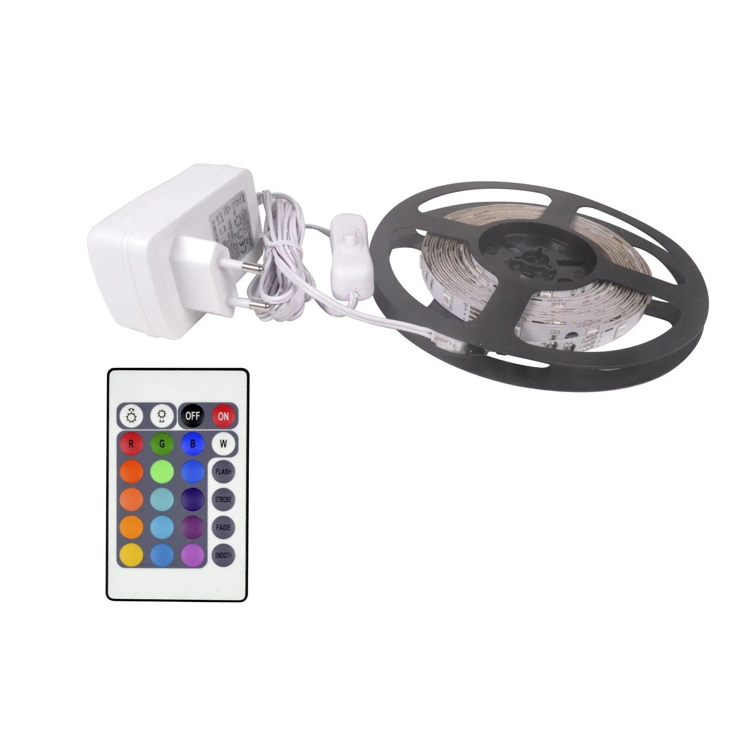 Eclairage Led Multicolore Kit Ruban Led 5m Multicolore Leroy Merlin