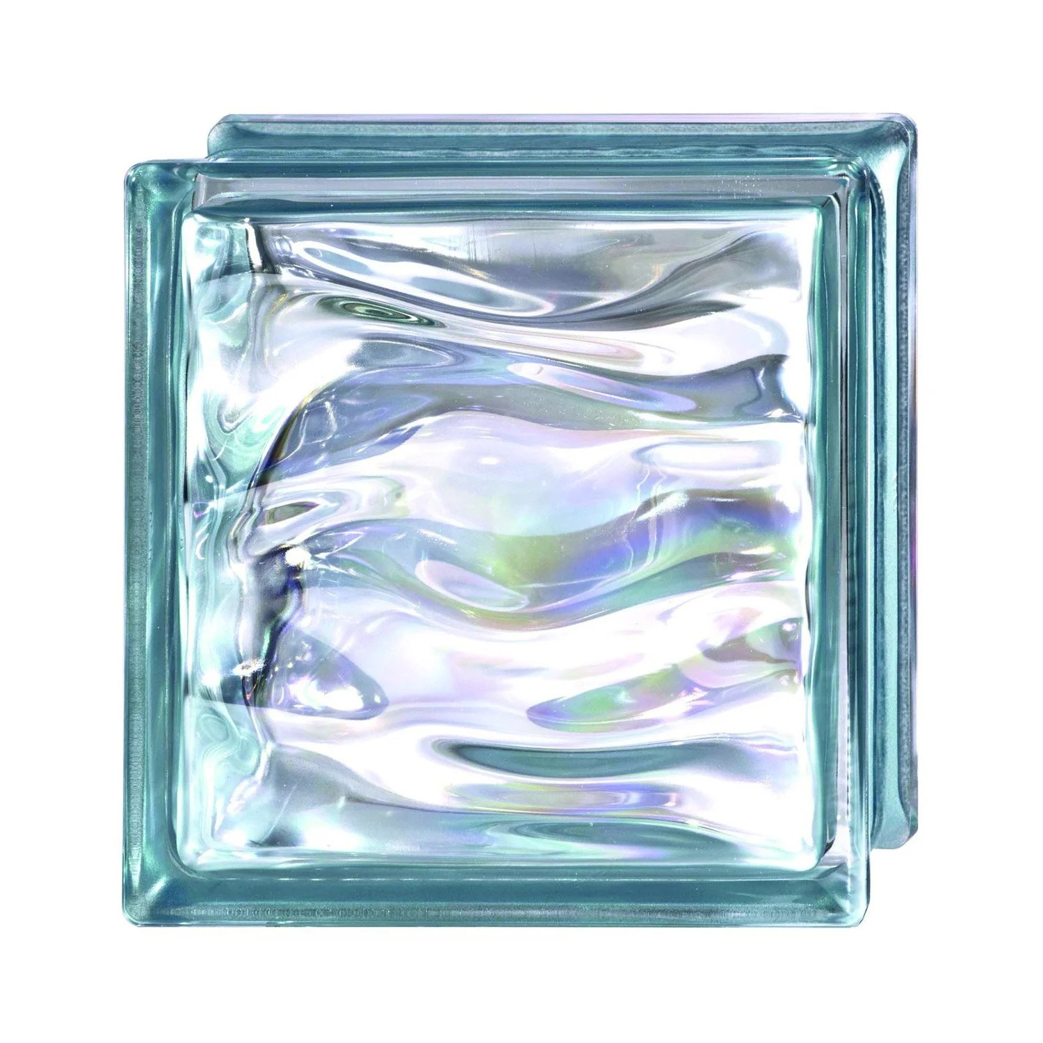 Carreau De Verre Brique De Verre Bleu Vague Brillant