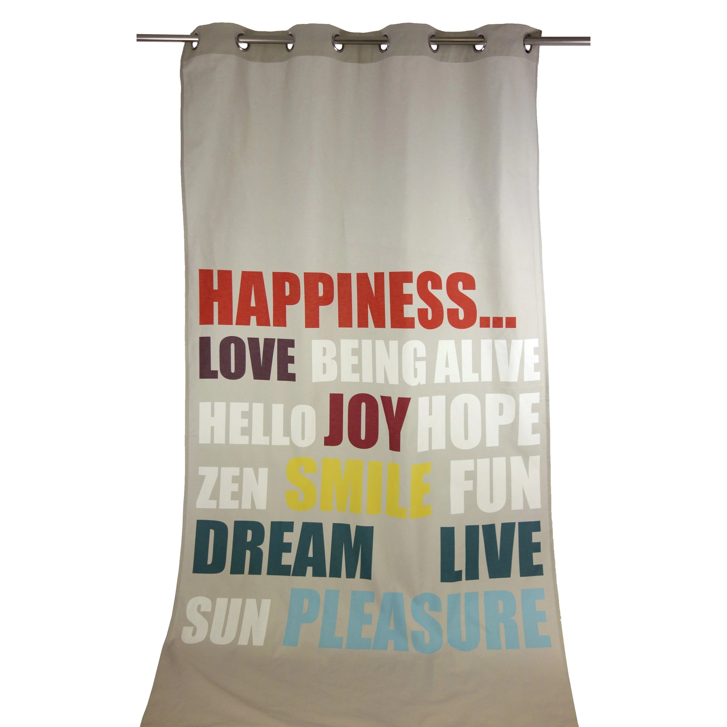 Rideau Multicolore Rideau Tamisant Happy Multicolore L 140 X H 270 Cm