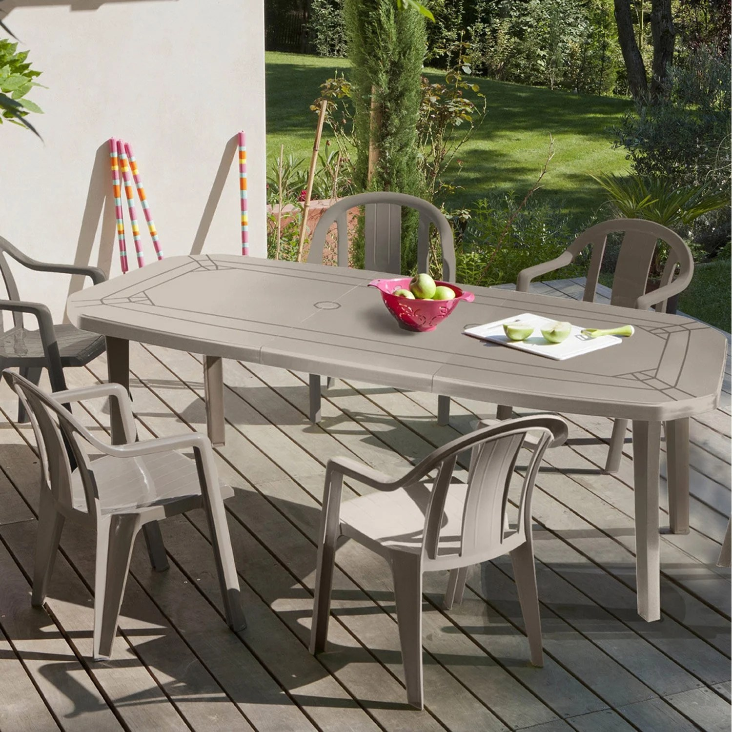 Table De Jardin Grosfillex Leroy Merlin Table De Jardin Grosfillex Miami Rectangulaire Taupe 10