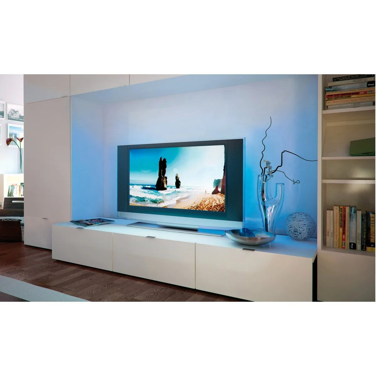 Feu De Cheminee Ecran Tv Ruban Led Tv 2 X 5m Multicolore 3000k Paulmann