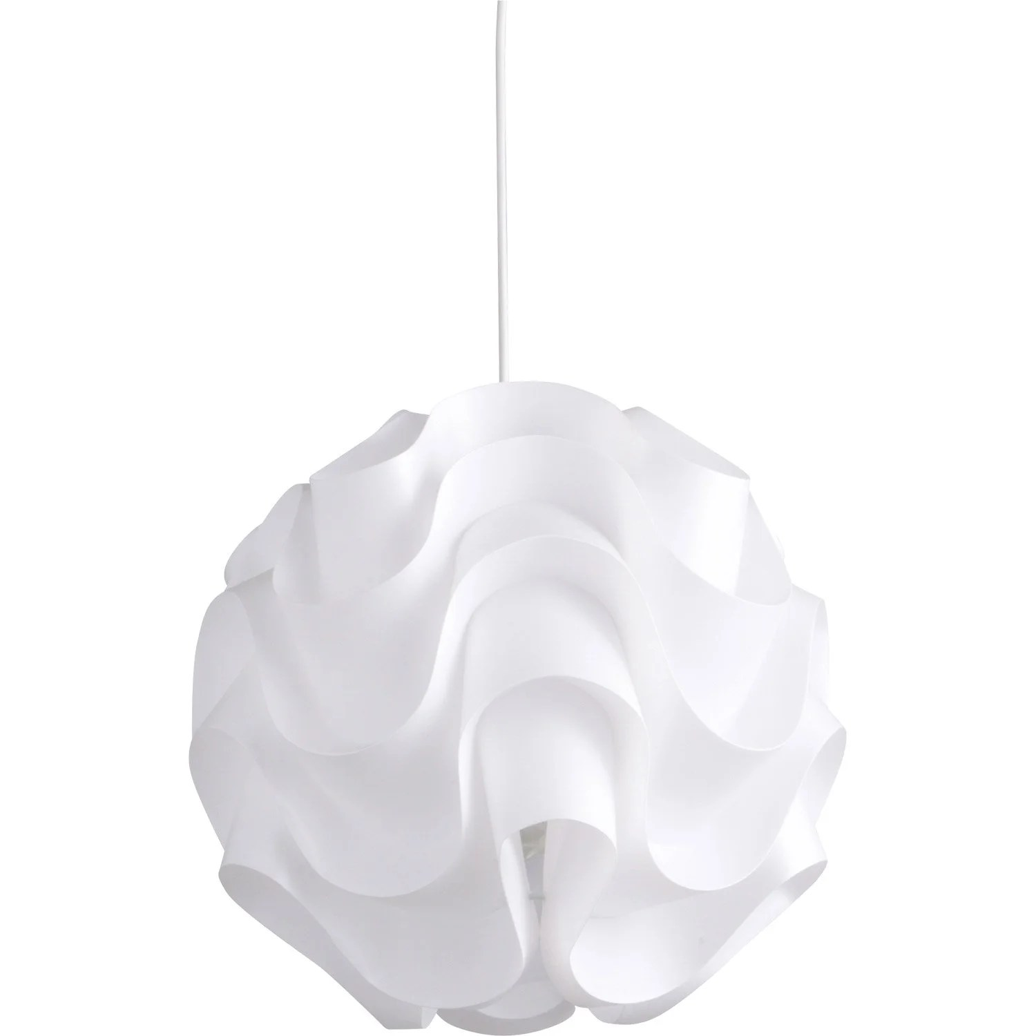 Suspension Luminaire Diamètre 60 Cm Suspension E27 Design Sky Plastique Blanc 1 X 60 W Inspire