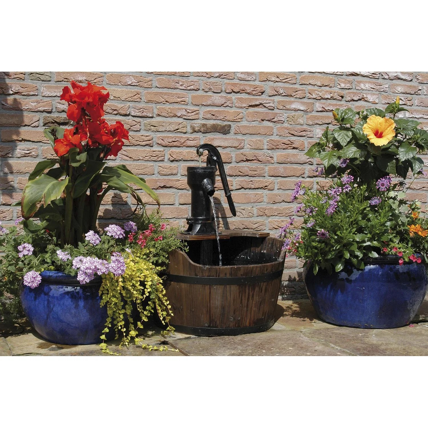 Fontaine De Terrasse Kit Fontaine Ubbink Newcastle Marron H 75 Cm