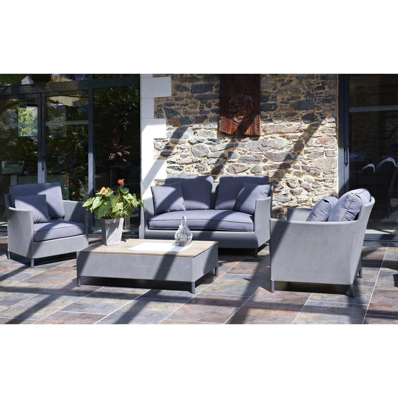Beautiful Salon Bas De Jardin Aluminium Textilene Ideas Amazing Avec ...