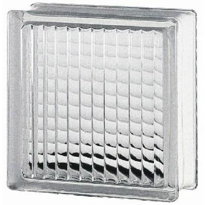 Brique de verre, transparent quadrillé brillant Leroy Merlin