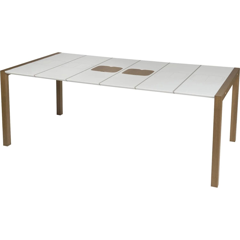 Table De Terrasse Grosfillex | Table De Jardin Alpha 150 Grosfillex ...